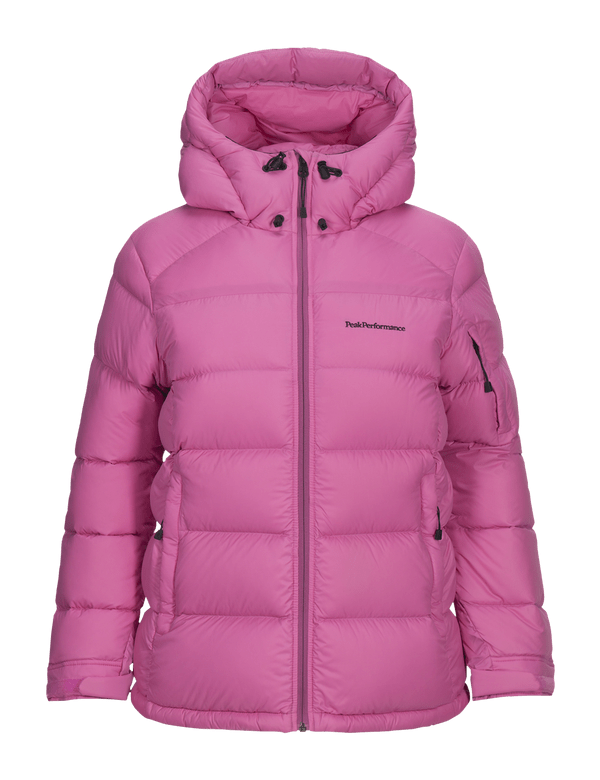 peak performance women's frost down jacket vibrant pink