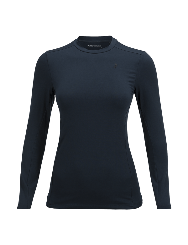 PEAKPERFORMANCE WOMEN'S GRAPH CREW NECK BASE LAYER SALUTE BLUE