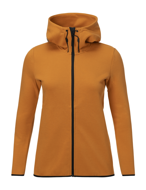 peak performance Women's Tech Cotton Blend Zip-Up Hoodie Desert Blow / 5DR
