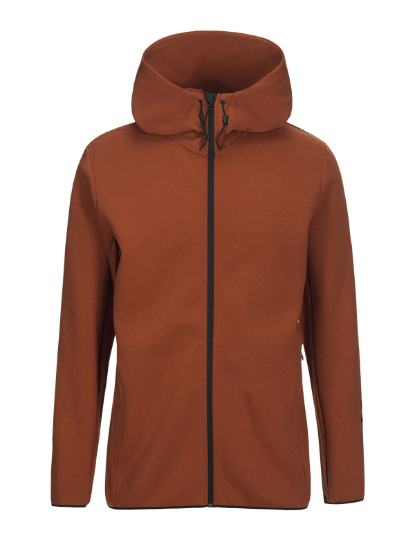 Peak performance men's cotton blend tech zip up hoodie desert clay
