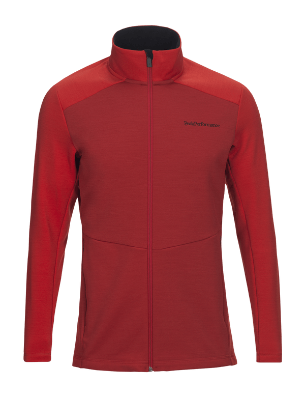 Peak performance Men's Helo Wool Blend Zip-up Midlayer Red Pompeian / 5DM