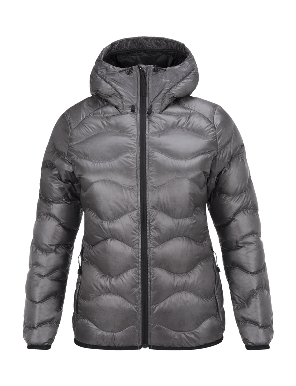 PEAKPERFORMANCE WOMEN'S BL HELIUM HOODED JACKET QUIT GREY