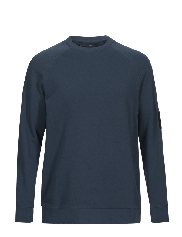 peak performance men's urban crew steel blue