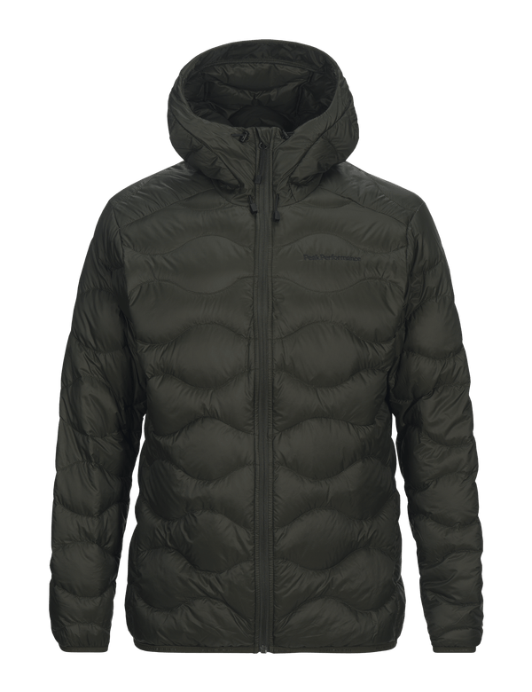 PEAK PERFORMANCE MEN'S DOWN HELIUM HOOD JACKET forest night
