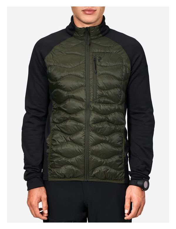 peak performance men's helium hybrid jacket forest night