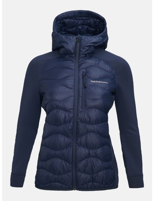 PEAK PERFORMANCE WOMEN'S HYBRID HOOD JACKET Blue shadow
