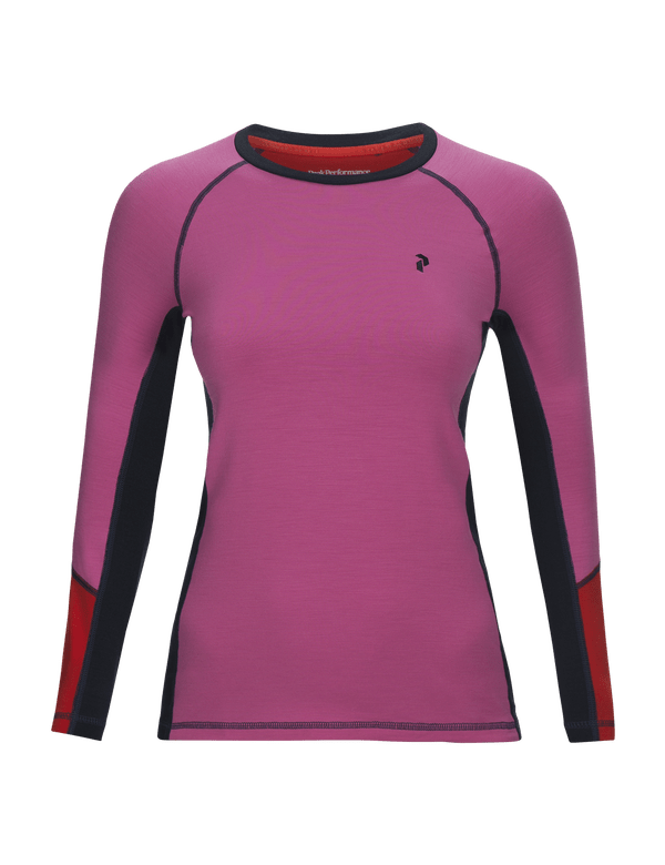 Women's Merino Wool Blend Magic Longsleeve Vibrant Pink / 59B