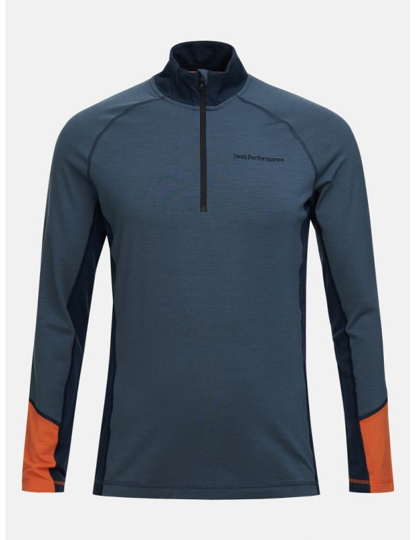 PEAK PERFORMANCE MEN'S MAGIC HALF ZIP Blue steel