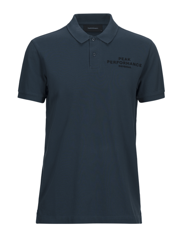Peak performance men's original pique blue steel
