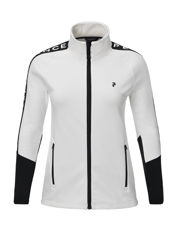 PEAK PERFORMANCE WOMEN'S STRETCH RIDER ZIP-UP offwhite