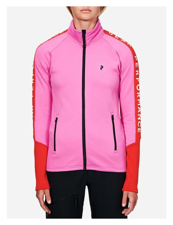PEAK PERFORMANCE WOMEN'S STRETCH RIDER ZIP-UP vibrant pink