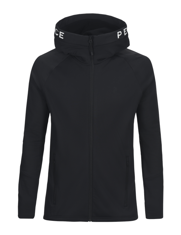 Peak performance men's hoodie rider zip black