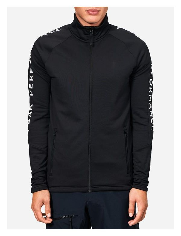 PEAK PERFORMANCE MEN'S STRETCH RIDER ZIP-UP black
