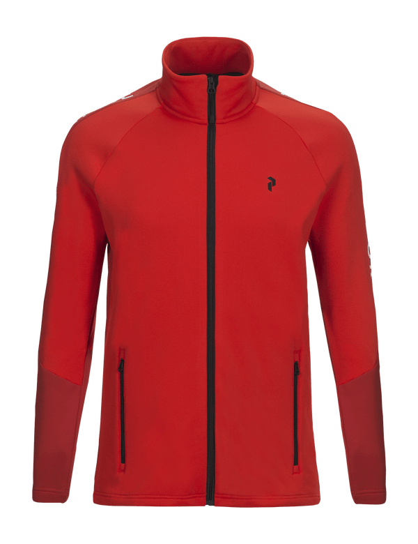 peak performance men's stretch ride zip up dynared