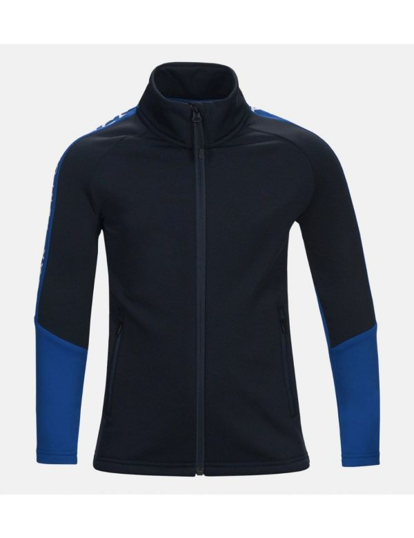 Kids Stretch Rider Zip-Up Hoodie Vibrant Island blue