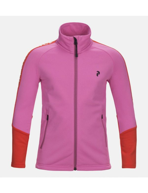 Kids Stretch Rider Zip-Up Hoodie Vibrant Pink / 59B