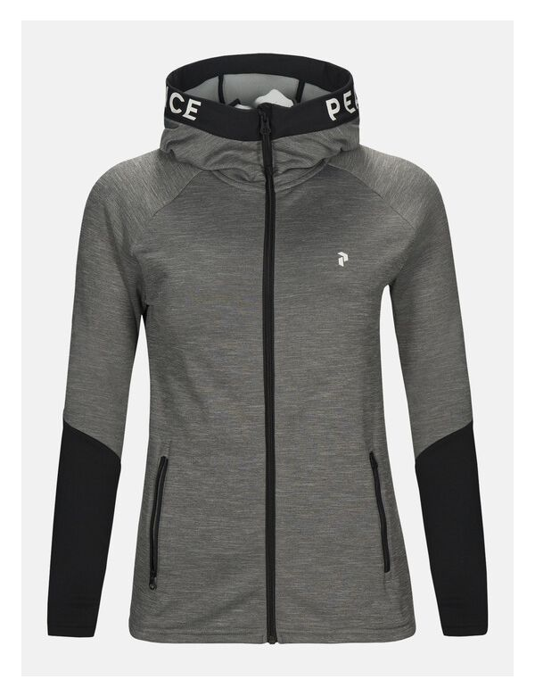 peak performance women's rider hood grey melange