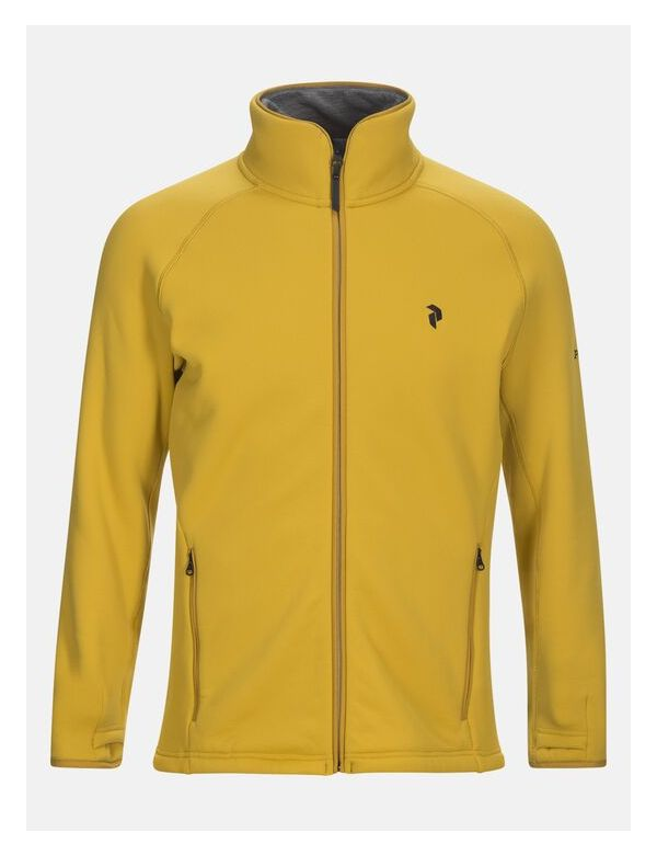 PEAK PERFORMANCE MEN'S CHILL ZIP Yellow flow
