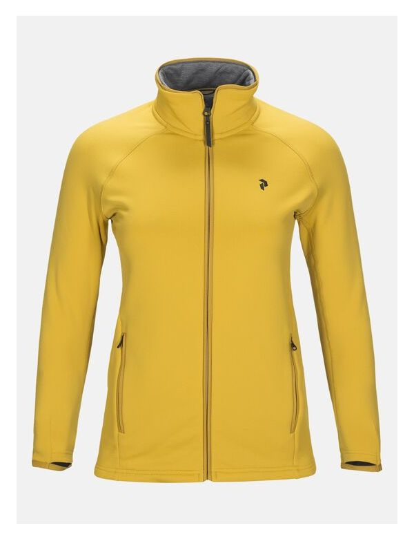 peak performance women's chill zip yellow flow