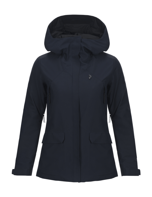 Peak performance women's gore tex blizzard ski jacket salute blue