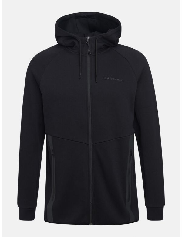 peakperformance men's tech zipped hood black
