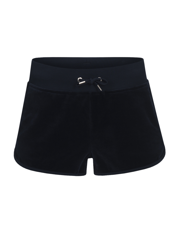 peak performance women's original velour shorts salute blue
