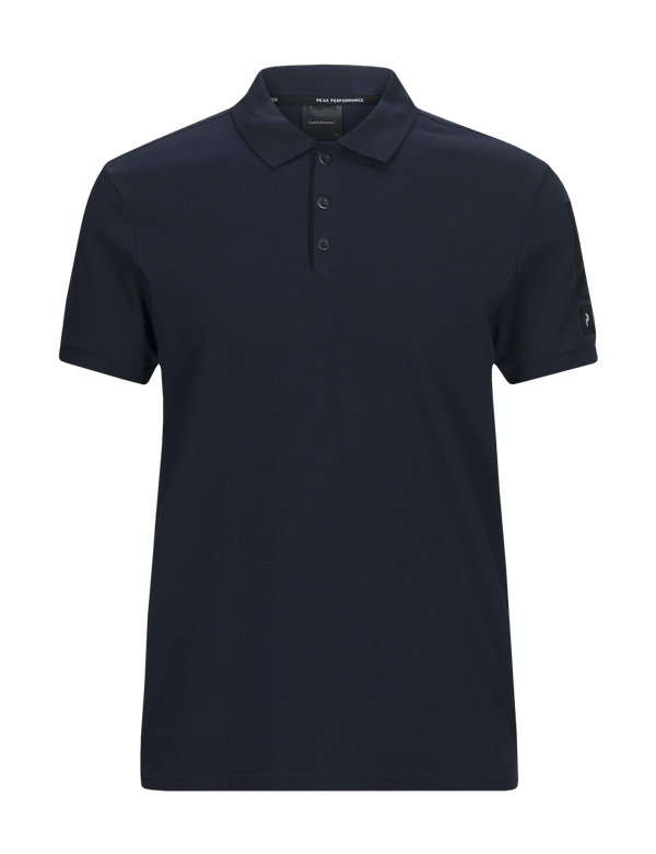 peak performance men's tech pique polo salute blue