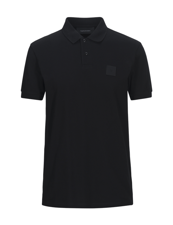 Peak performance men's urban pique polo steel blue