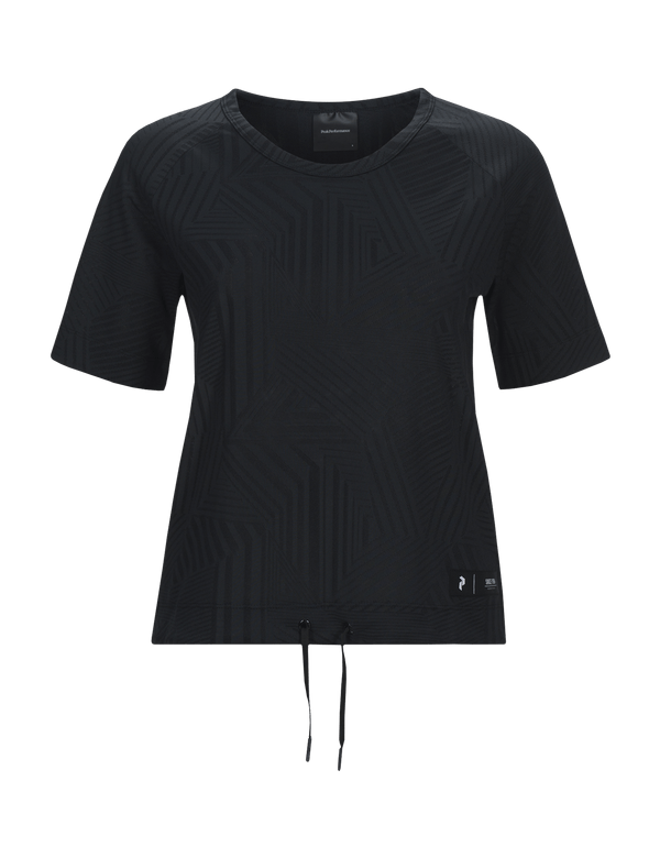 peak performance women's 2.0 tech drawstring top black