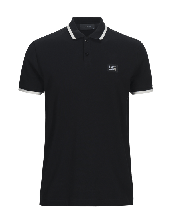 peak performance men's ground 2 polo black