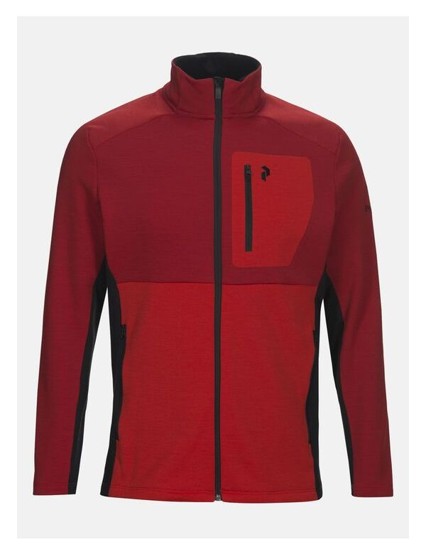 peak performance men's helo zip chilli red
