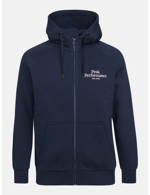 PEAK PERFORMANCE MEN'S ORIGINAL ZIP HOOD Blue shadow