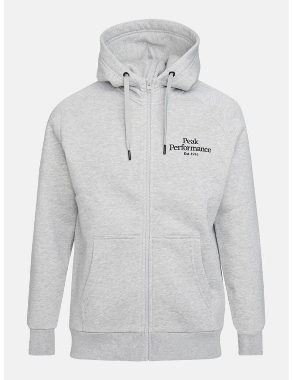 PEAK PERFORMANCE MEN'S ORIGINAL ZIP HOOD Med Grey melange