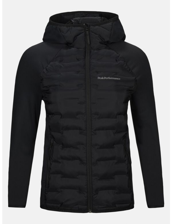 PEAK PERFORMANCE WOMEN'S ARGON HYBRID HOOD JACKET Black