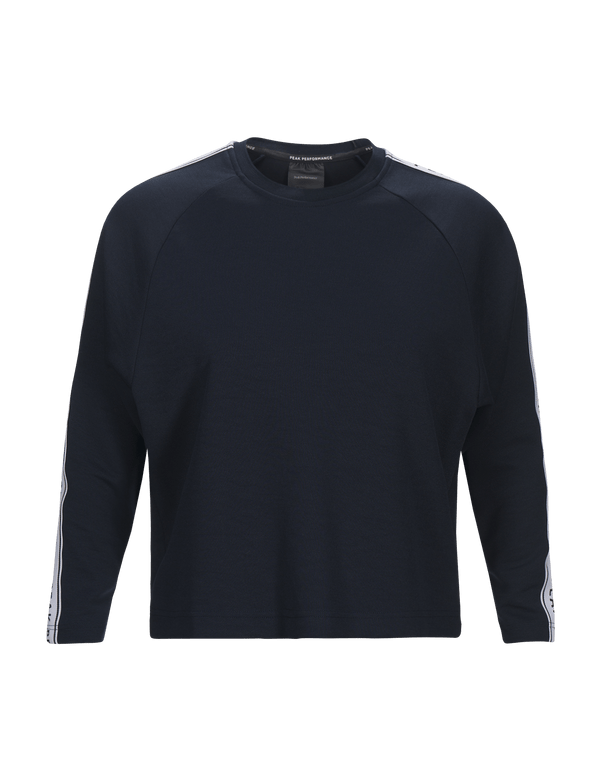 peak performance women's tech club crew neck black
