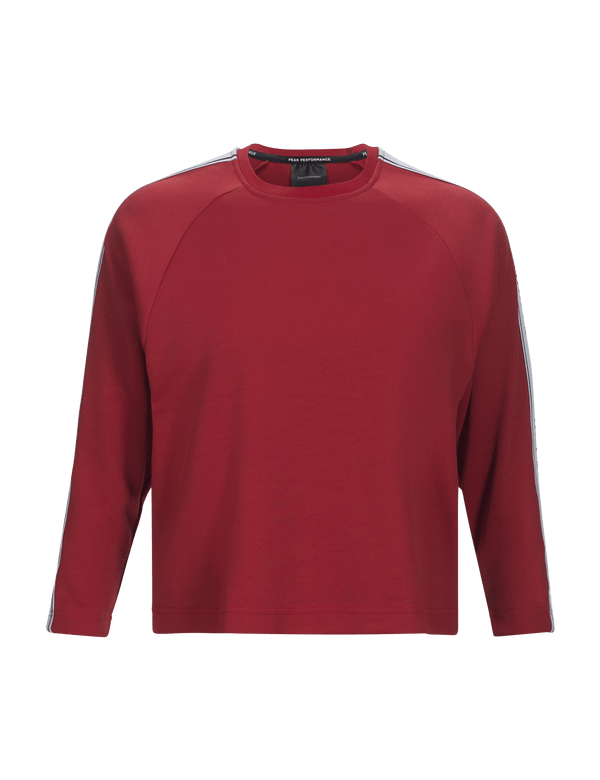 peak performance women's tech club crew neck red
