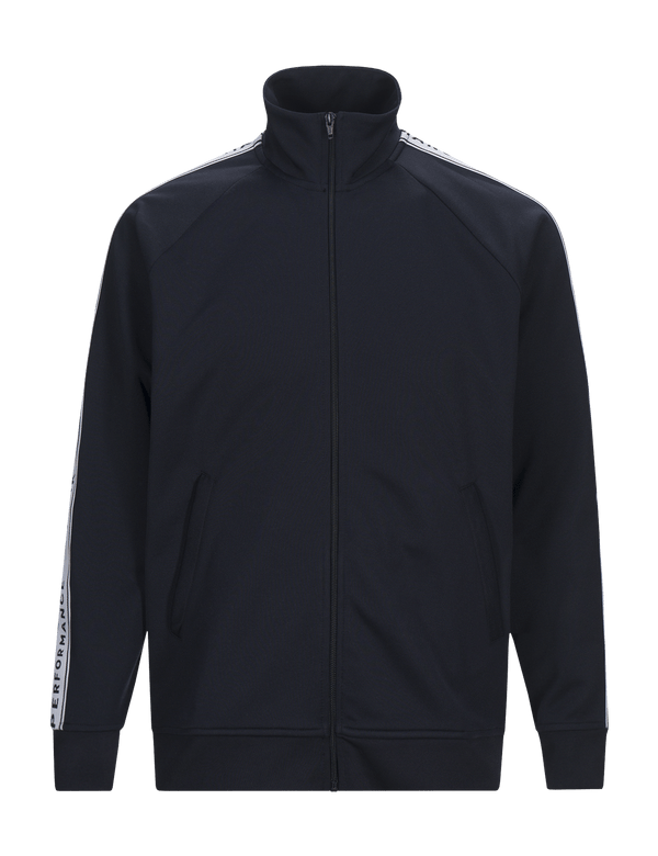 peak performance men's tech cotton blend club zip -up salute blue