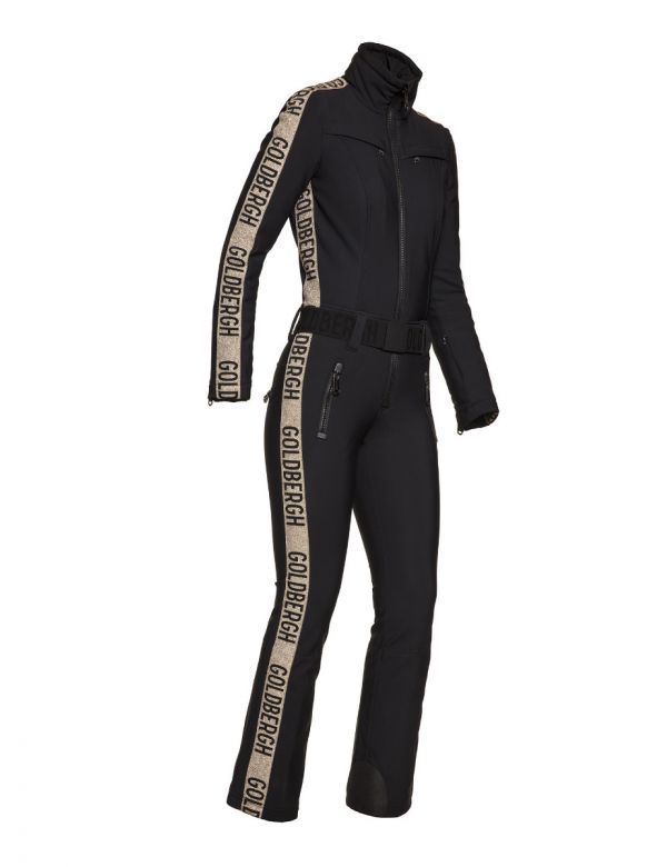 GOLDBERGH GOLDFINGER JUMPSUIT black gold
