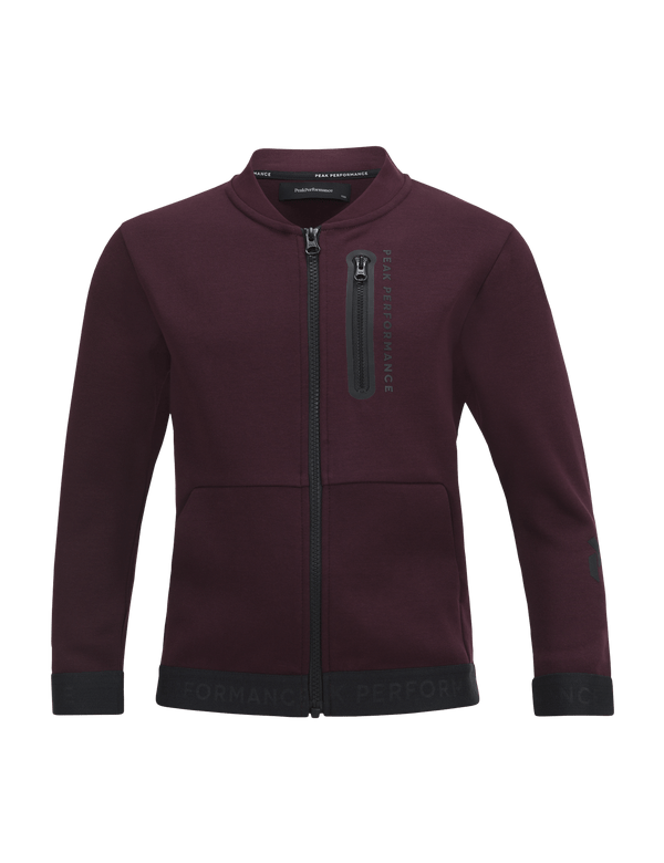 PEAKPERFORMANCE KIDS TECH ZIPPED JACKET MAHOGANY