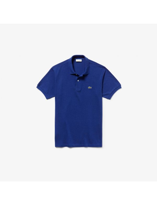lacoste short sleeve classic pique polo blue chine