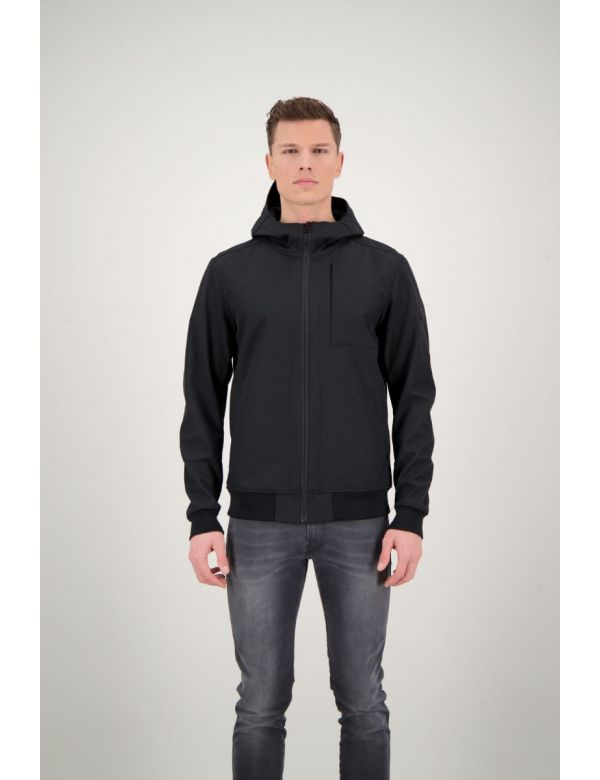 AIRFORCE SOFTSHELL JACKET CHESTPOCKET Black