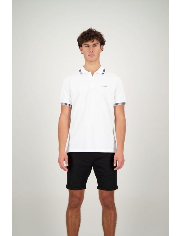 AIRFORCE POLO DOUBLE STRIPE White