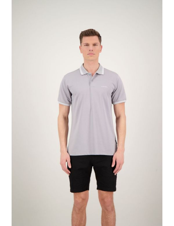 AIRFORCE POLO DOUBLE STRIPE Poloma Grey / White