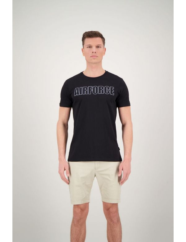AIRFORCE OUTLINE T-SHIRT Black
