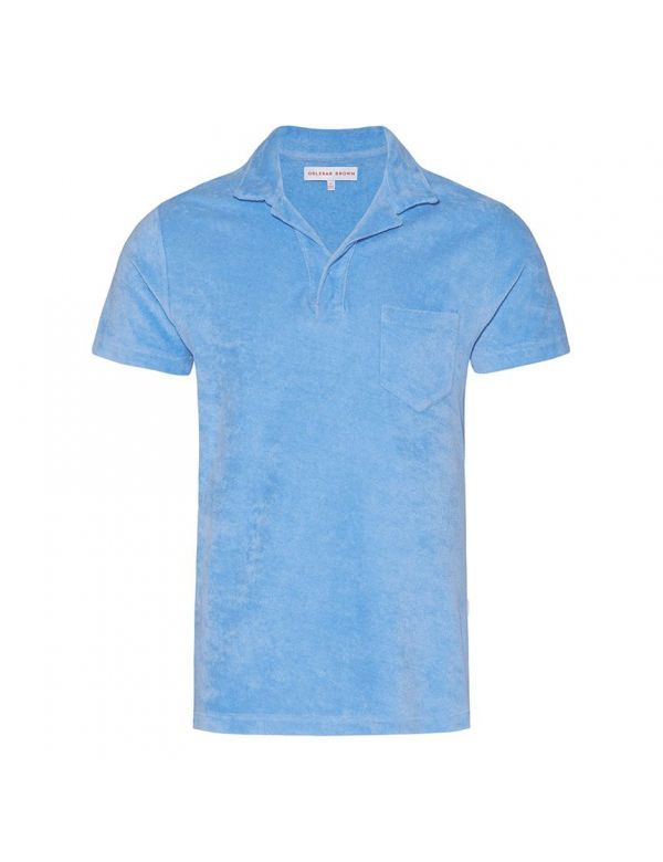 ORLEBAR BROWN TERRY TOWELLING POLO Riviera Blue