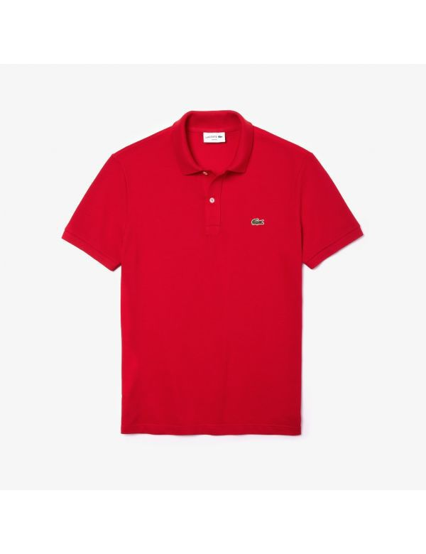 LACOSTE SLIM FIT POLO ROUGE