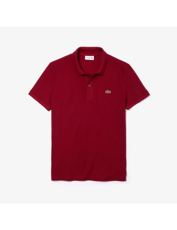 lacoste slim fit polo bordeaux