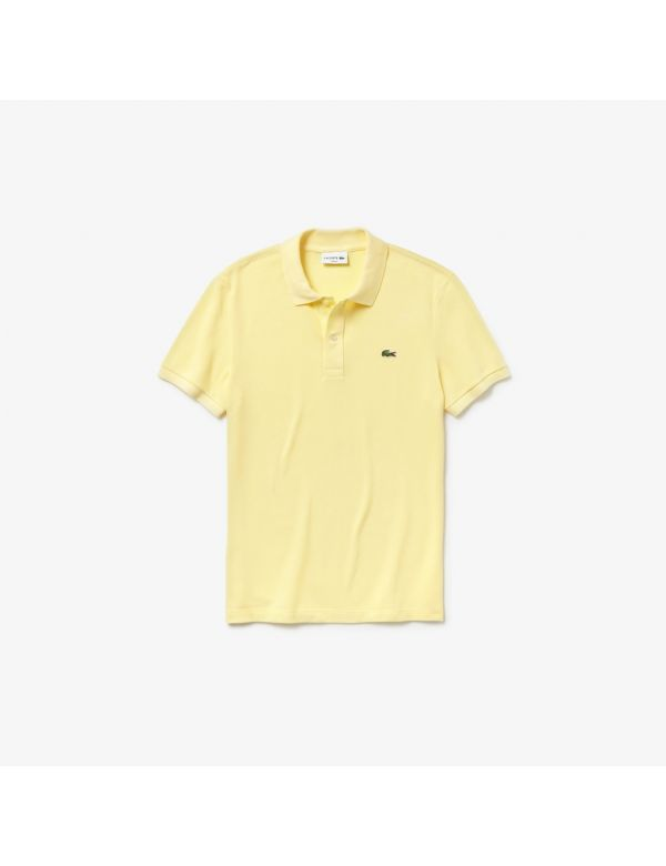 lacoste slim fit polo jaune geel
