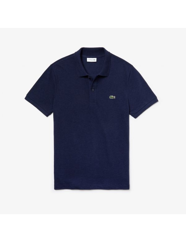 LACOSTE SLIM FIT POLO Blue chine