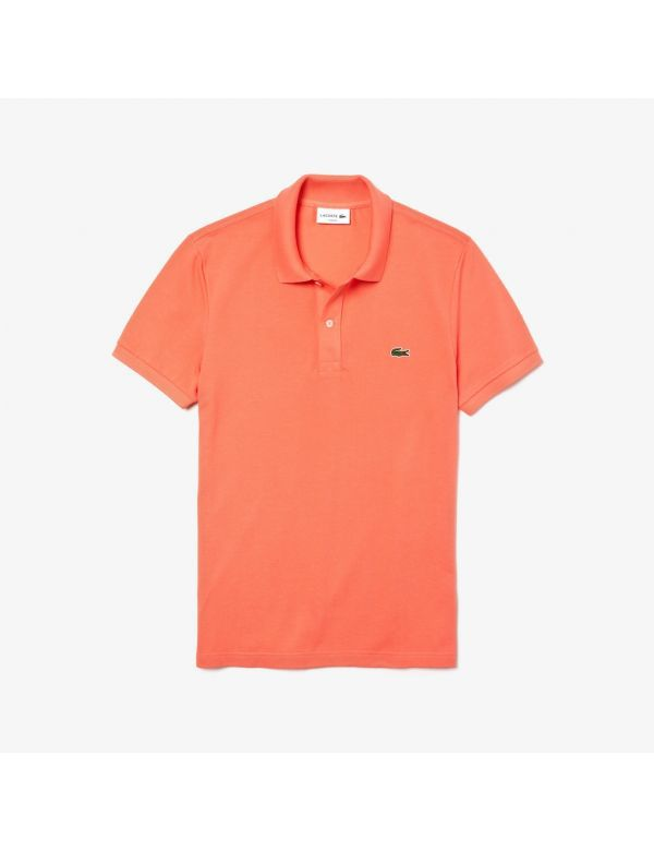 lacoste slim fit polo orange